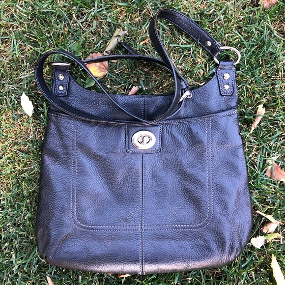 Authentic Coach Black Leather Penelope Crossbody.